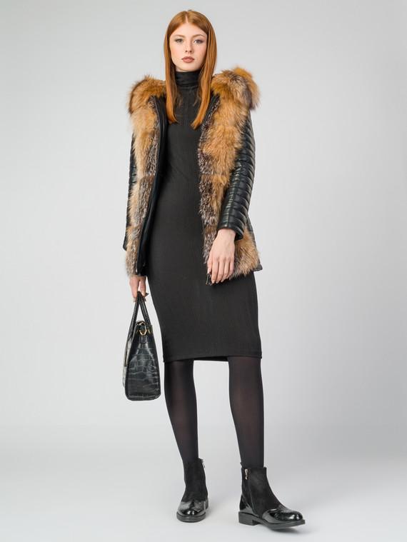 Кожаная куртка эко-кожа 100% П/А, цвет черный, арт. 18006845  - цена 15990 руб.  - магазин TOTOGROUP