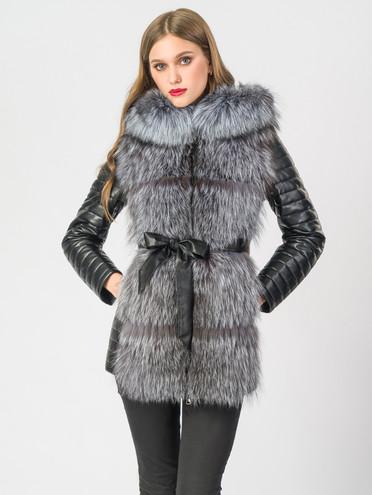Кожаная куртка эко-кожа 100% П/А, цвет черный, арт. 18006846  - цена 14990 руб.  - магазин TOTOGROUP