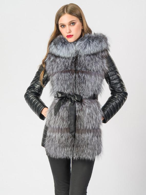 Кожаная куртка эко-кожа 100% П/А, цвет черный, арт. 18006846  - цена 11990 руб.  - магазин TOTOGROUP