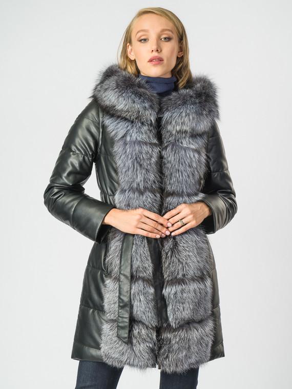 Кожаное пальто эко-кожа 100% П/А, цвет черный, арт. 18006847  - цена 14990 руб.  - магазин TOTOGROUP