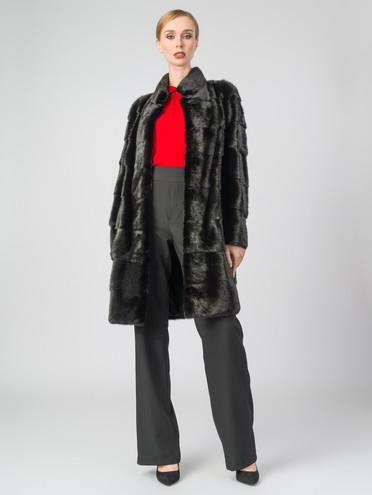 Шуба из норки мех норка, цвет черный, арт. 18006851  - цена 59990 руб.  - магазин TOTOGROUP