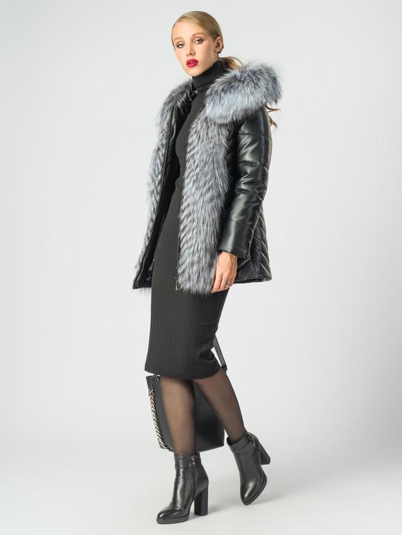 Кожаная куртка эко-кожа 100% П/А, цвет черный, арт. 18006853  - цена 10590 руб.  - магазин TOTOGROUP