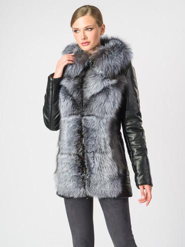 Кожаная куртка эко-кожа 100% П/А, цвет черный, арт. 18006866  - цена 17990 руб.  - магазин TOTOGROUP