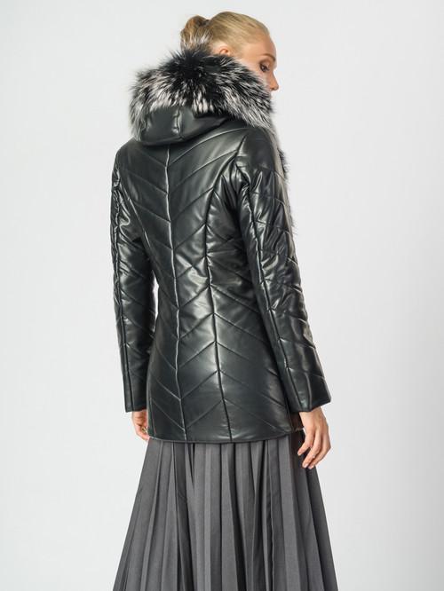 Кожаная куртка артикул 18006868/44 - фото 3
