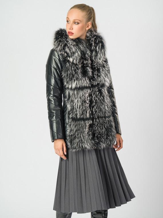 Кожаная куртка эко-кожа 100% П/А, цвет черный, арт. 18006868  - цена 11990 руб.  - магазин TOTOGROUP