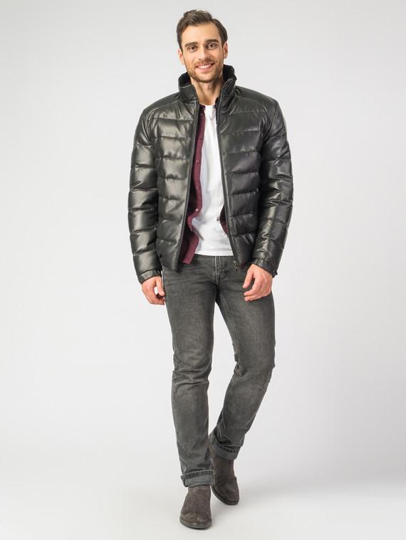 Кожаная куртка кожа , цвет черный, арт. 18006896  - цена 19990 руб.  - магазин TOTOGROUP