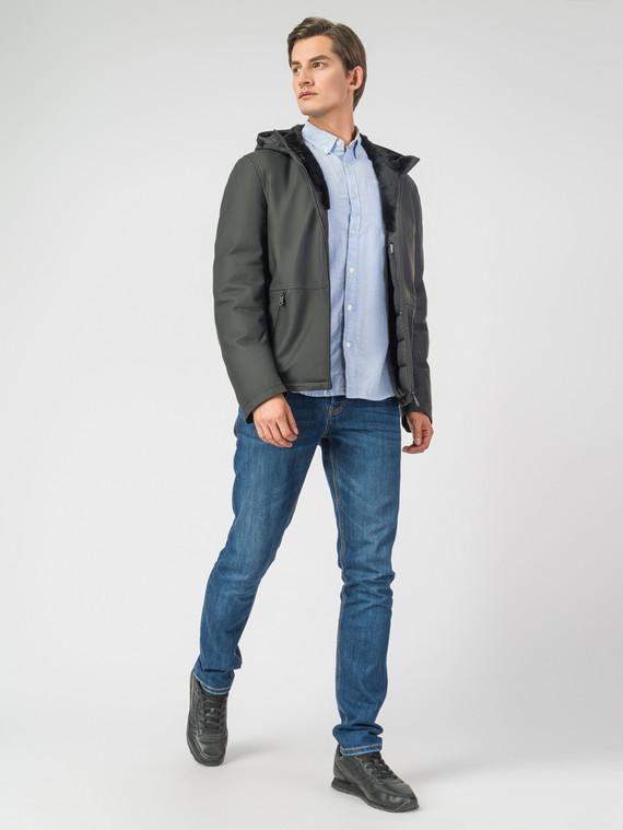 Кожаная куртка кожа, цвет черный, арт. 18006897  - цена 16990 руб.  - магазин TOTOGROUP