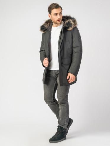 Кожаная куртка кожа, цвет черный, арт. 18006898  - цена 7490 руб.  - магазин TOTOGROUP