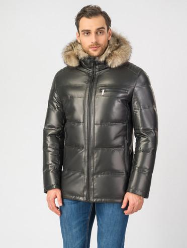 Кожаная куртка кожа , цвет черный, арт. 18006901  - цена 29990 руб.  - магазин TOTOGROUP