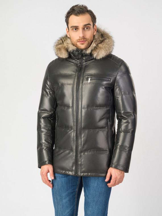 Кожаная куртка кожа , цвет черный, арт. 18006901  - цена 16990 руб.  - магазин TOTOGROUP