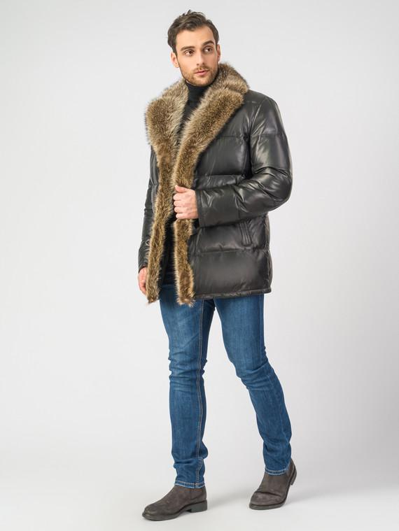 Кожаная куртка кожа , цвет черный, арт. 18006902  - цена 16990 руб.  - магазин TOTOGROUP