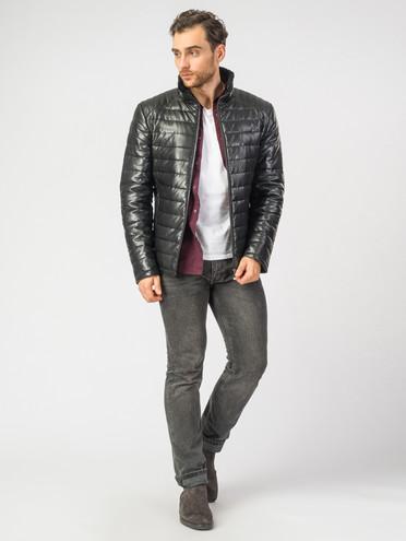 Кожаная куртка эко-кожа 100% П/А, цвет черный, арт. 18006904  - цена 8490 руб.  - магазин TOTOGROUP