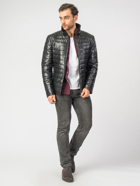 Кожаная куртка эко кожа 100% П/А, цвет черный, арт. 18006904  - цена 13390 руб.  - магазин TOTOGROUP
