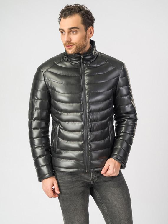 Кожаная куртка эко-кожа 100% П/А, цвет черный, арт. 18006905  - цена 9490 руб.  - магазин TOTOGROUP
