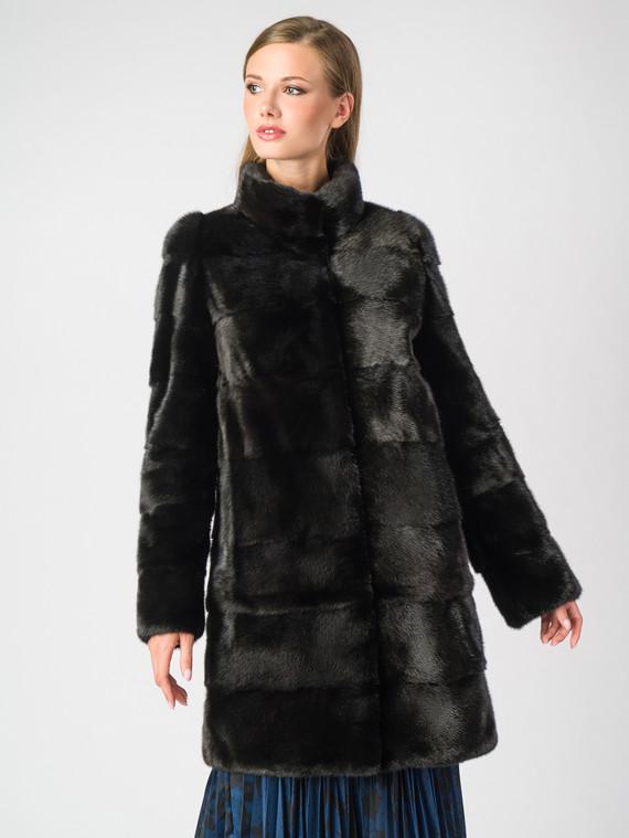 Шуба из норки мех норка, цвет черный, арт. 18006908  - цена 56490 руб.  - магазин TOTOGROUP