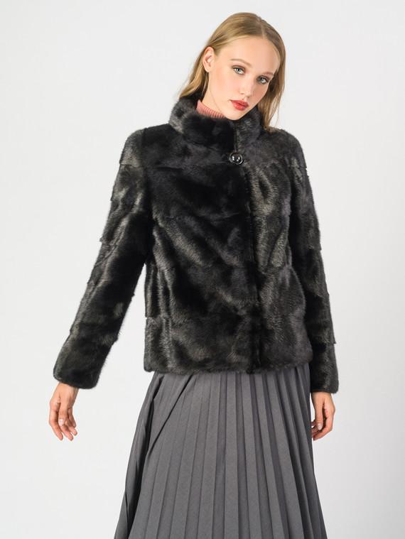 Шуба из норки мех норка, цвет черный, арт. 18006920  - цена 42490 руб.  - магазин TOTOGROUP
