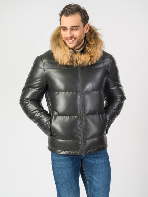 Кожаная куртка артикул 18006923/48 - фото 2