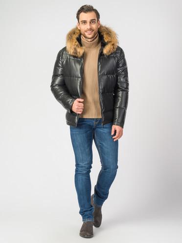 Кожаная куртка эко-кожа 100% П/А, цвет черный, арт. 18006923  - цена 11990 руб.  - магазин TOTOGROUP