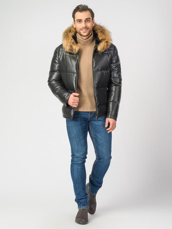Кожаная куртка эко-кожа 100% П/А, цвет черный, арт. 18006923  - цена 9990 руб.  - магазин TOTOGROUP