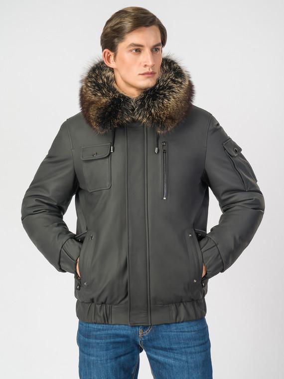 Кожаная куртка кожа , цвет черный, арт. 18006925  - цена 16990 руб.  - магазин TOTOGROUP