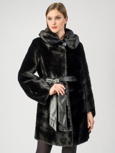 Шуба из норки мех норка, цвет черный, арт. 18006932  - цена 89990 руб.  - магазин TOTOGROUP