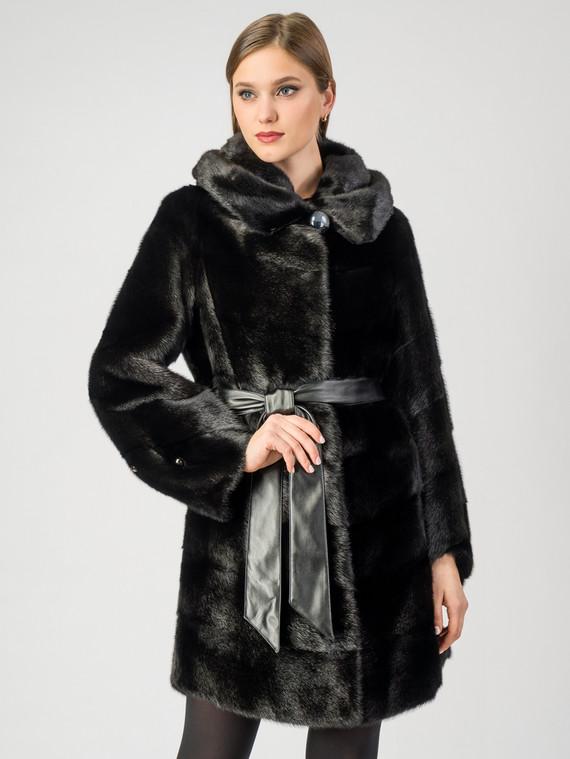 Шуба из норки мех норка, цвет черный, арт. 18006932  - цена 63990 руб.  - магазин TOTOGROUP