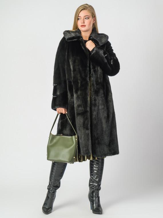 Шуба из норки мех норка, цвет черный, арт. 18006938  - цена 105990 руб.  - магазин TOTOGROUP