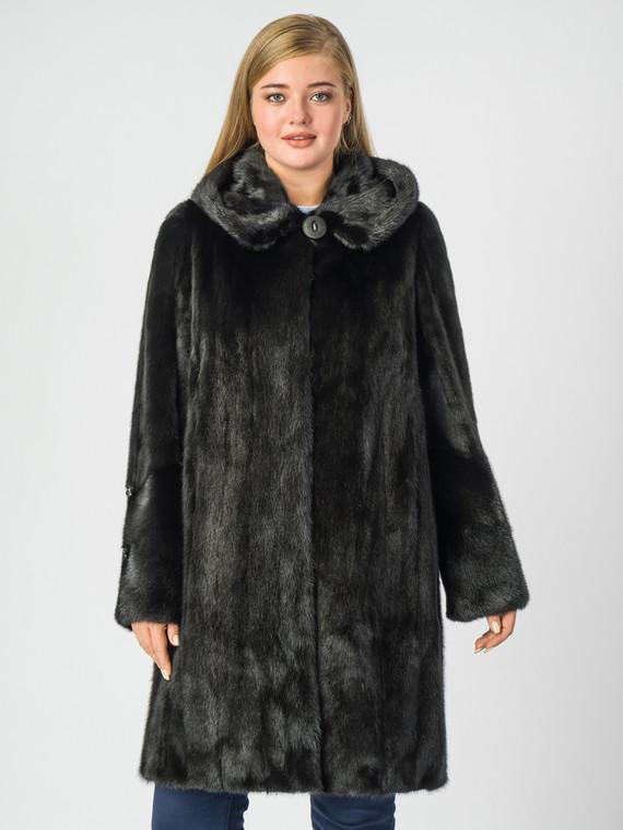 Шуба из норки мех норка, цвет черный, арт. 18006940  - цена 105990 руб.  - магазин TOTOGROUP