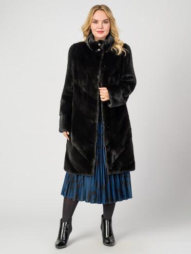 Шуба из норки мех норка, цвет черный, арт. 18006942  - цена 112990 руб.  - магазин TOTOGROUP