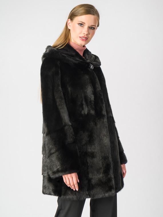 Шуба из норки мех норка, цвет черный, арт. 18006949  - цена 56490 руб.  - магазин TOTOGROUP