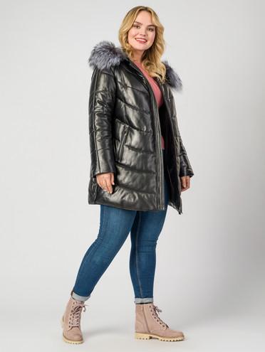 Кожаная куртка кожа , цвет черный, арт. 18006984  - цена 29990 руб.  - магазин TOTOGROUP