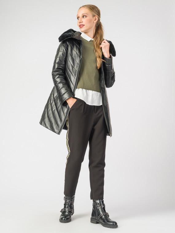 Кожаная куртка кожа , цвет черный металлик, арт. 18006986  - цена 13390 руб.  - магазин TOTOGROUP
