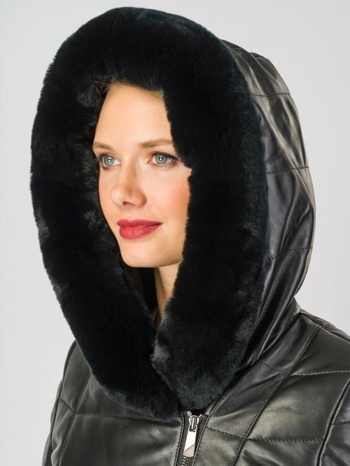 Кожаное пальто артикул 18006989/42 - фото 4