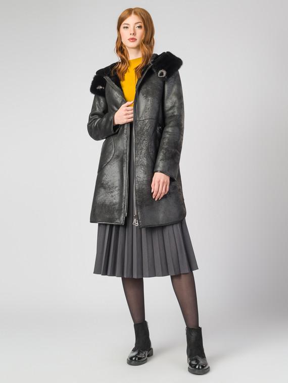 Дубленка эко-кожа 100% П/А, цвет черный, арт. 18006996  - цена 13390 руб.  - магазин TOTOGROUP