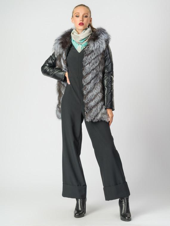 Кожаная куртка эко-кожа 100% П/А, цвет черный, арт. 18007010  - цена 13390 руб.  - магазин TOTOGROUP
