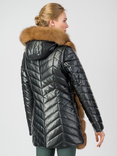 Кожаная куртка артикул 18007011/44 - фото 3