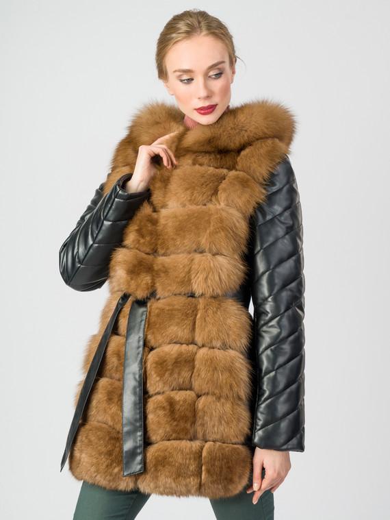 Кожаная куртка эко-кожа 100% П/А, цвет черный, арт. 18007011  - цена 12690 руб.  - магазин TOTOGROUP