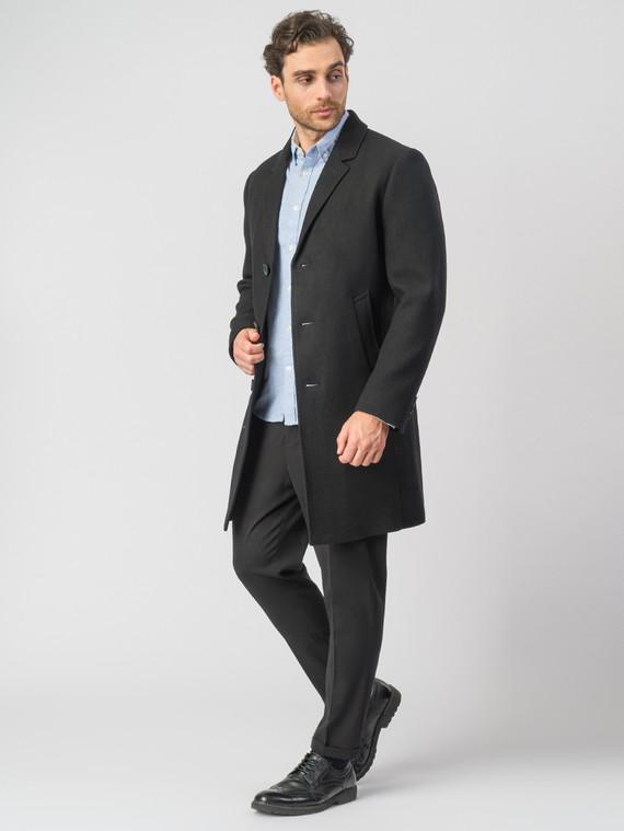 Текстильное пальто 51% п/э,49%шерсть, цвет черный, арт. 18007030  - цена 6990 руб.  - магазин TOTOGROUP