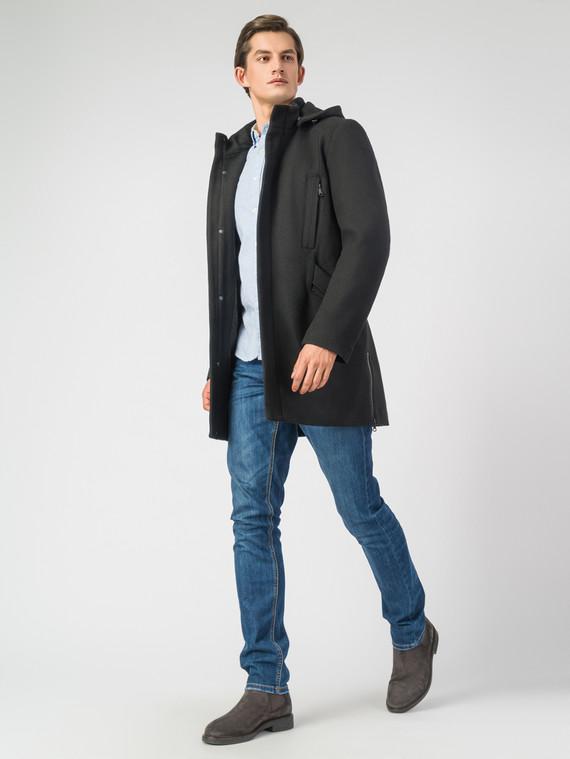 Текстильное пальто 51% п/э,49%шерсть, цвет черный, арт. 18007031  - цена 5890 руб.  - магазин TOTOGROUP