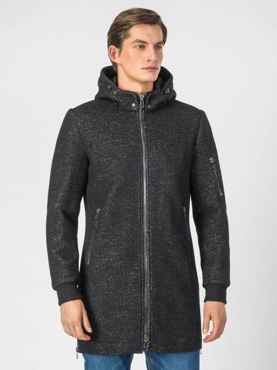 Текстильное пальто 51% п/э,49%шерсть, цвет черный, арт. 18007032  - цена 4990 руб.  - магазин TOTOGROUP