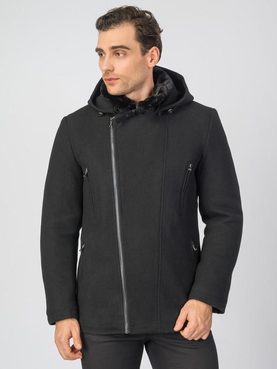 Текстильное пальто 51% п/э,49%шерсть, цвет черный, арт. 18007036  - цена 6630 руб.  - магазин TOTOGROUP