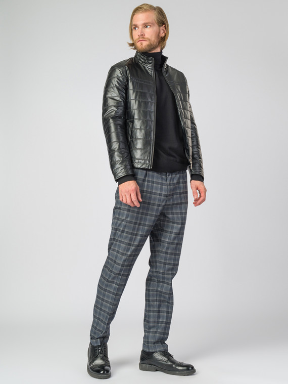 Кожаная куртка эко-кожа 100% П/А, цвет черный, арт. 18007065  - цена 4740 руб.  - магазин TOTOGROUP
