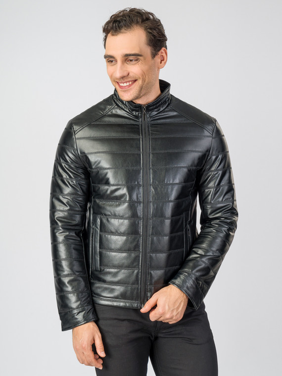 Кожаная куртка эко-кожа 100% П/А, цвет черный, арт. 18007066  - цена 3590 руб.  - магазин TOTOGROUP