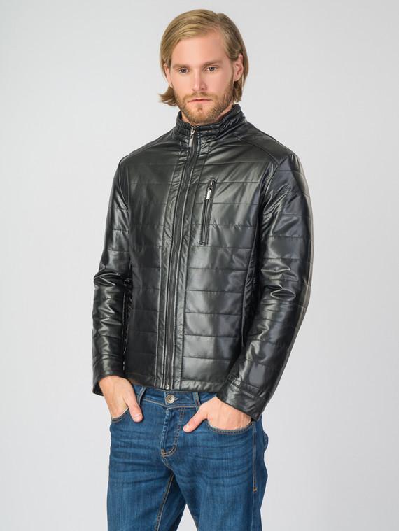 Кожаная куртка эко-кожа 100% П/А, цвет черный, арт. 18007067  - цена 5890 руб.  - магазин TOTOGROUP