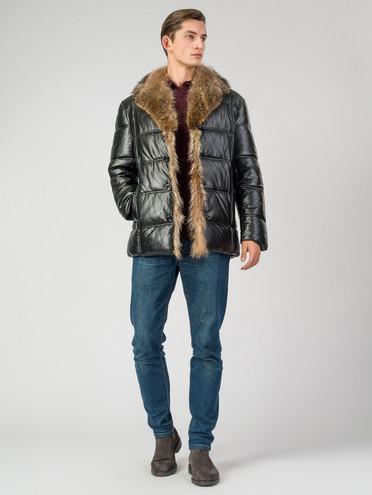 Кожаная куртка эко-кожа 100% П/А, цвет черный, арт. 18007068  - цена 13390 руб.  - магазин TOTOGROUP