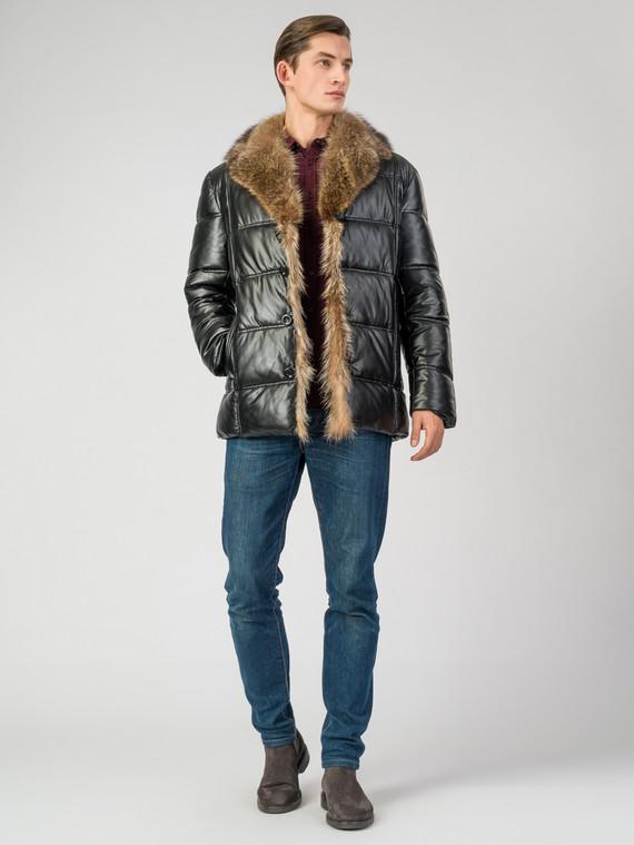 Кожаная куртка эко-кожа 100% П/А, цвет черный, арт. 18007068  - цена 11290 руб.  - магазин TOTOGROUP