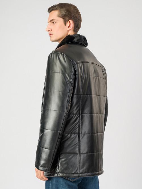 Кожаная куртка артикул 18007072/46 - фото 3