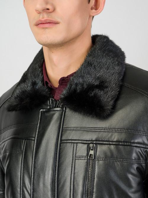 Кожаная куртка артикул 18007072/46 - фото 4