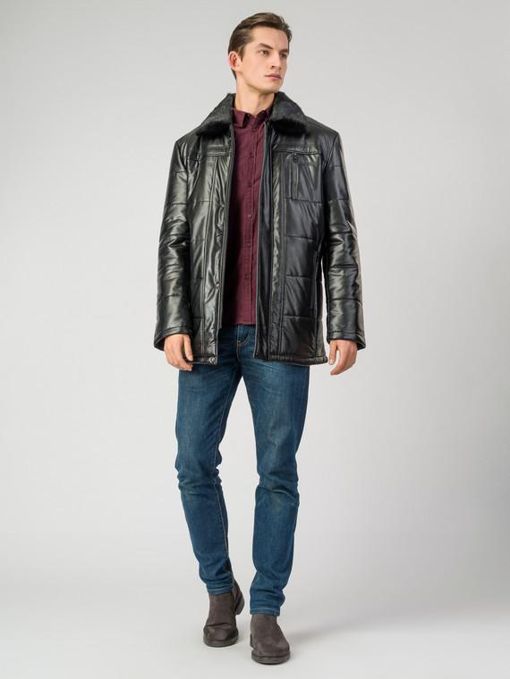 Кожаная куртка эко-кожа 100% П/А, цвет черный, арт. 18007072  - цена 7990 руб.  - магазин TOTOGROUP