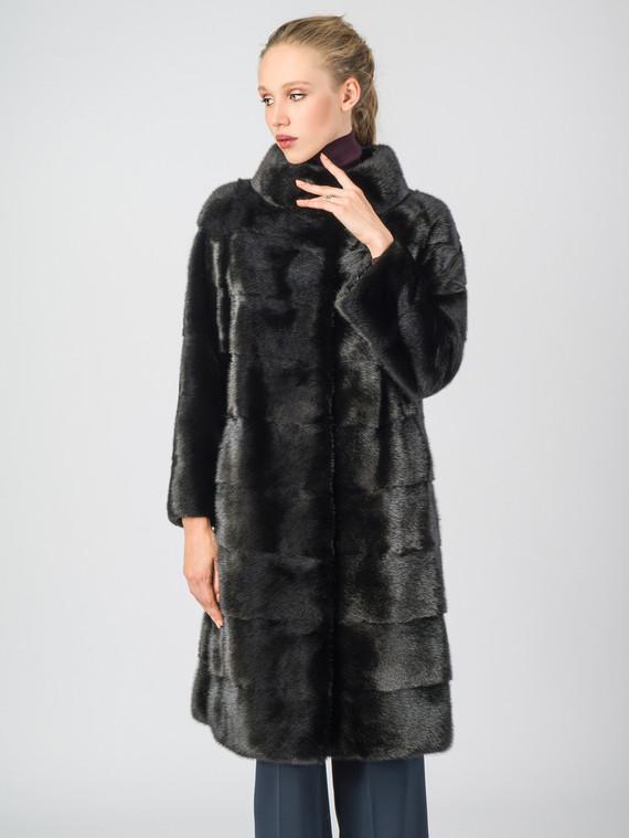 Шуба из норки мех норка, цвет черный, арт. 18007081  - цена 94990 руб.  - магазин TOTOGROUP